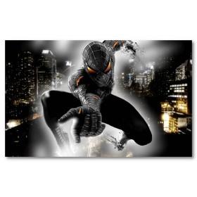Αφίσα (spiderman, αράχνη, μαύρο, λευκό, άσπρο)